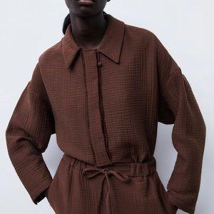 Textured shirt and pant set